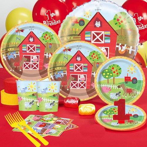 50 OFF Farm 1st Birthday Party Pack For 16