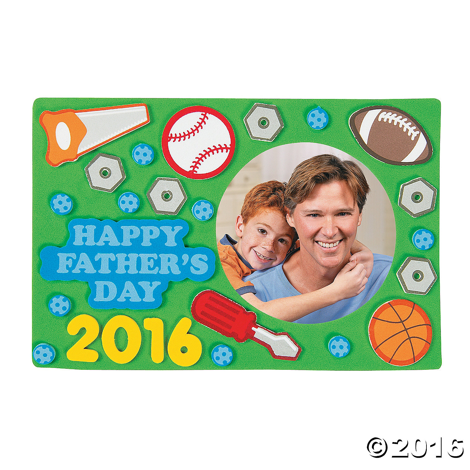 Father's Day Picture Frame Magnet Craft Kit - 12 Pk