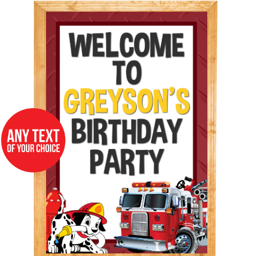 Fire Fighter PERSONALIZED Giant Door Sign