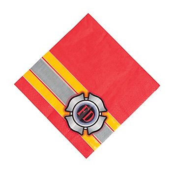 Fire Party Supplies: Firehouse Hero Lunch Napkins