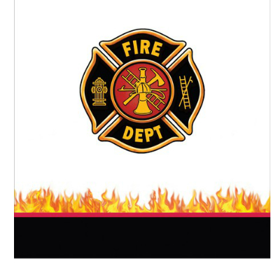 Fire Department: Printed Plastic Tablecover