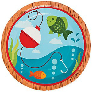 Fisherman Dinner Plates - 8 Pack