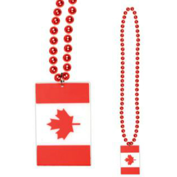 Canada Beaded Flag Necklace