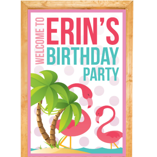 Flamingo PERSONALIZED Giant Door Sign