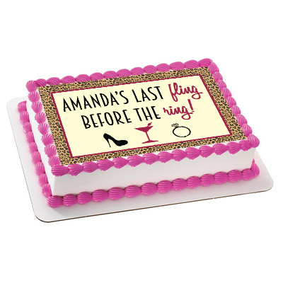 Bachelorette PERSONALIZED Fling Edible Icing Sheet