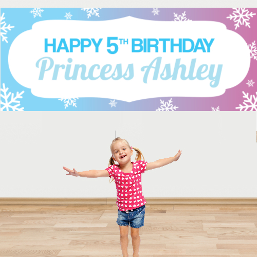 Frozen PERSONALIZED Giant Banner