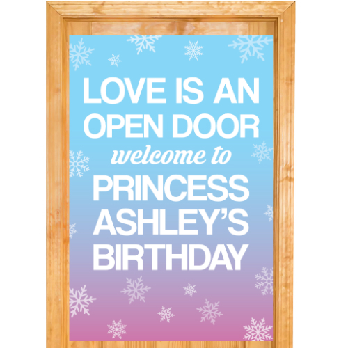 Frozen PERSONALIZED Giant Door Sign
