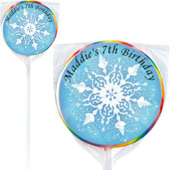 Disney Frozen: PERSONALIZED Large Lollipops - 12 Pk