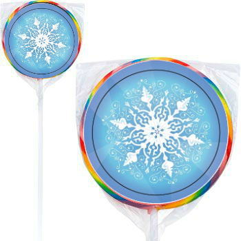 Disney Frozen: Snowflake Large Lollipops - 12 Pack