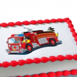 FireFighter Personalized Edible Icing