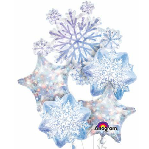 3D Snowflake Balloon Bouquet