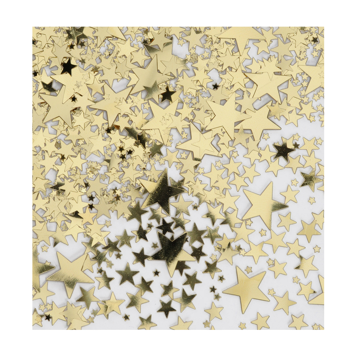 Gold Glitter Star Confetti Bag