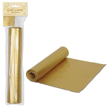 Gold Lame Fabric Table Runner 50 FT