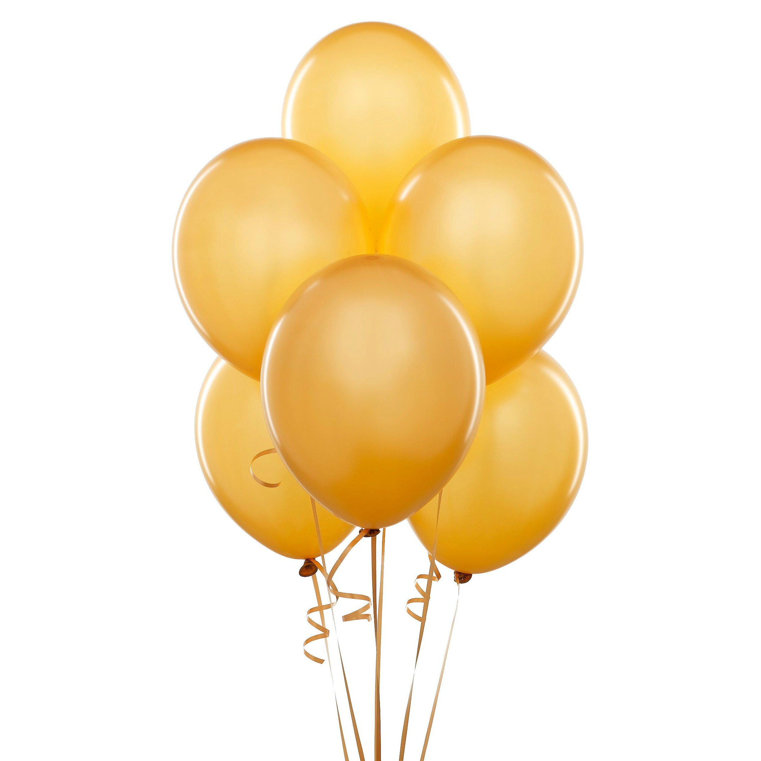 Gold Glitter Large Latex Balloons - 8 Pk