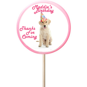 Dog PERSONALIZED Large Lollipops - 12 Pk