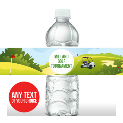 Golf PERSONALIZED Bottle Labels - 5 Pk