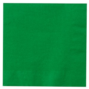 Green Lunch Napkins Big 50 Pack