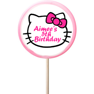 Hello Kitty PERSONALIZED Large Lollipops - 12 Pk