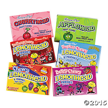 Lemonhead Candy Boxes - 64 Boxes