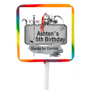 Knight PERSONALIZED Square Large Lollipops - 12 Pk