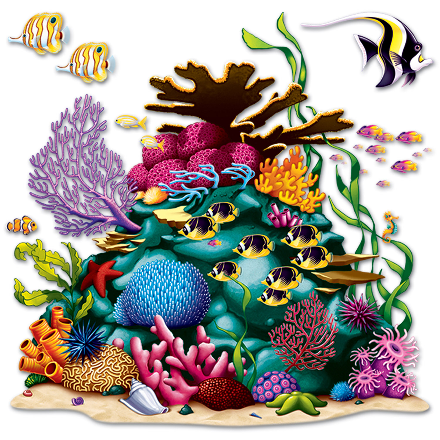 Coral Reef 5 Foot Wall Decor
