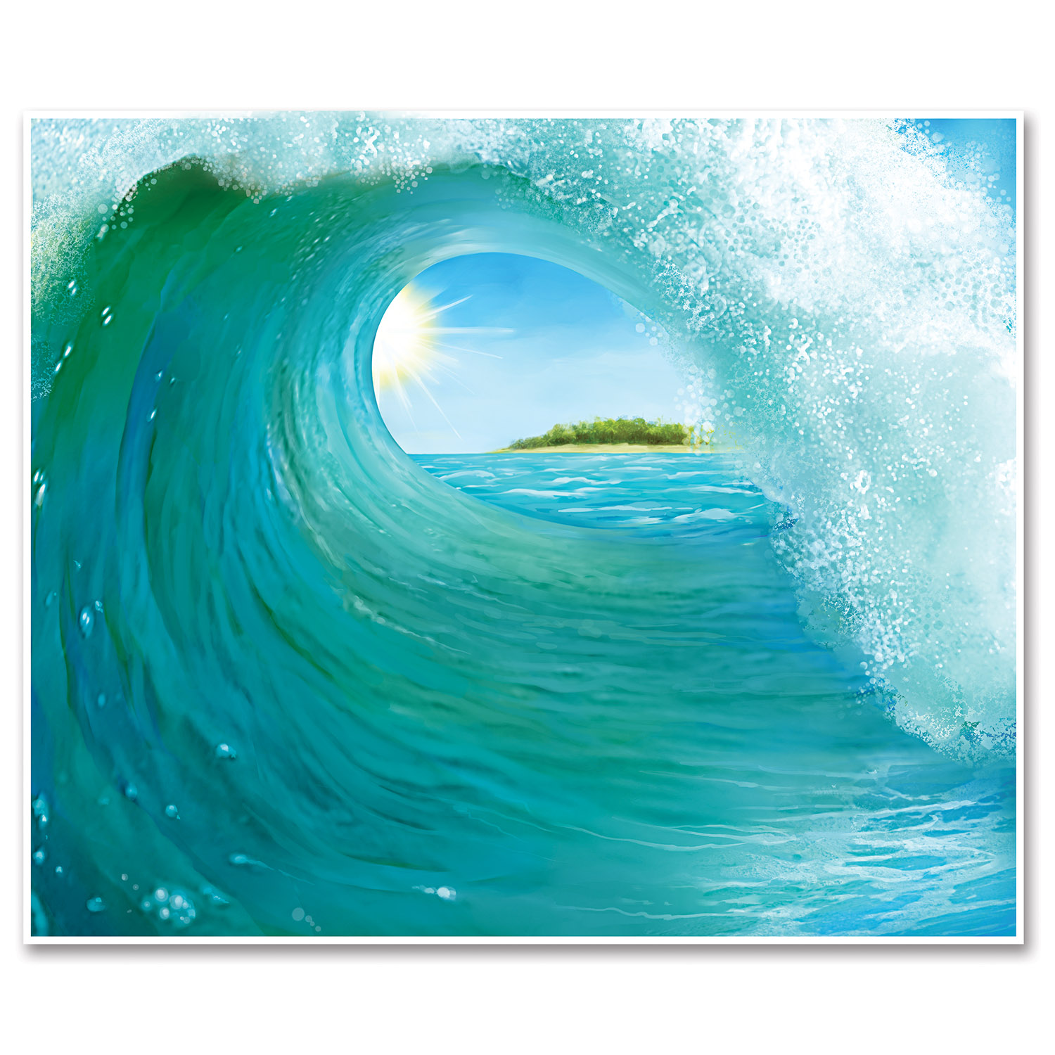 Surf Wave 6 Foot Insta-Mural