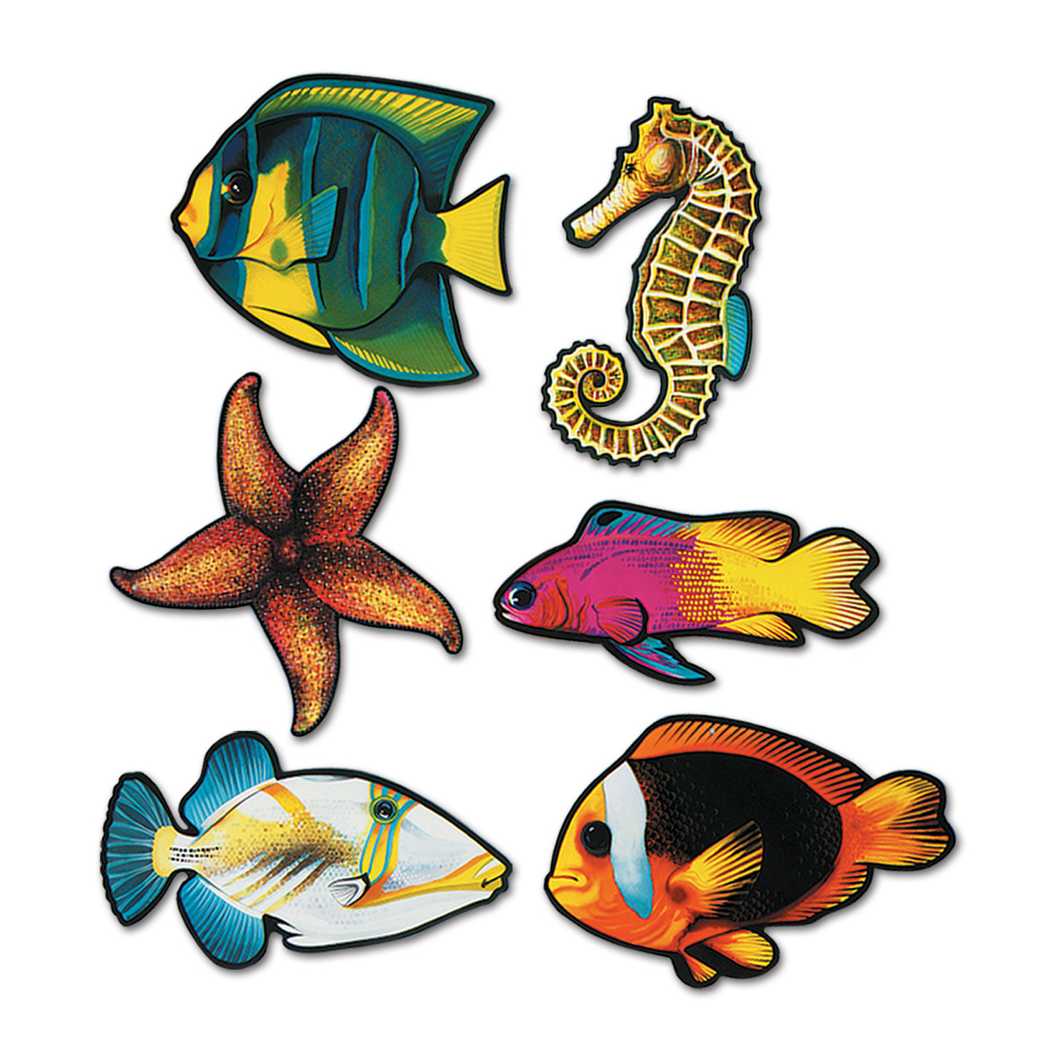 Jumbo Fish Cutouts 6 Pk
