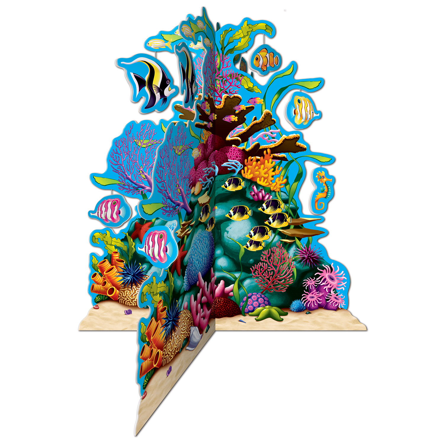 3D Coral Reef Centerpiece