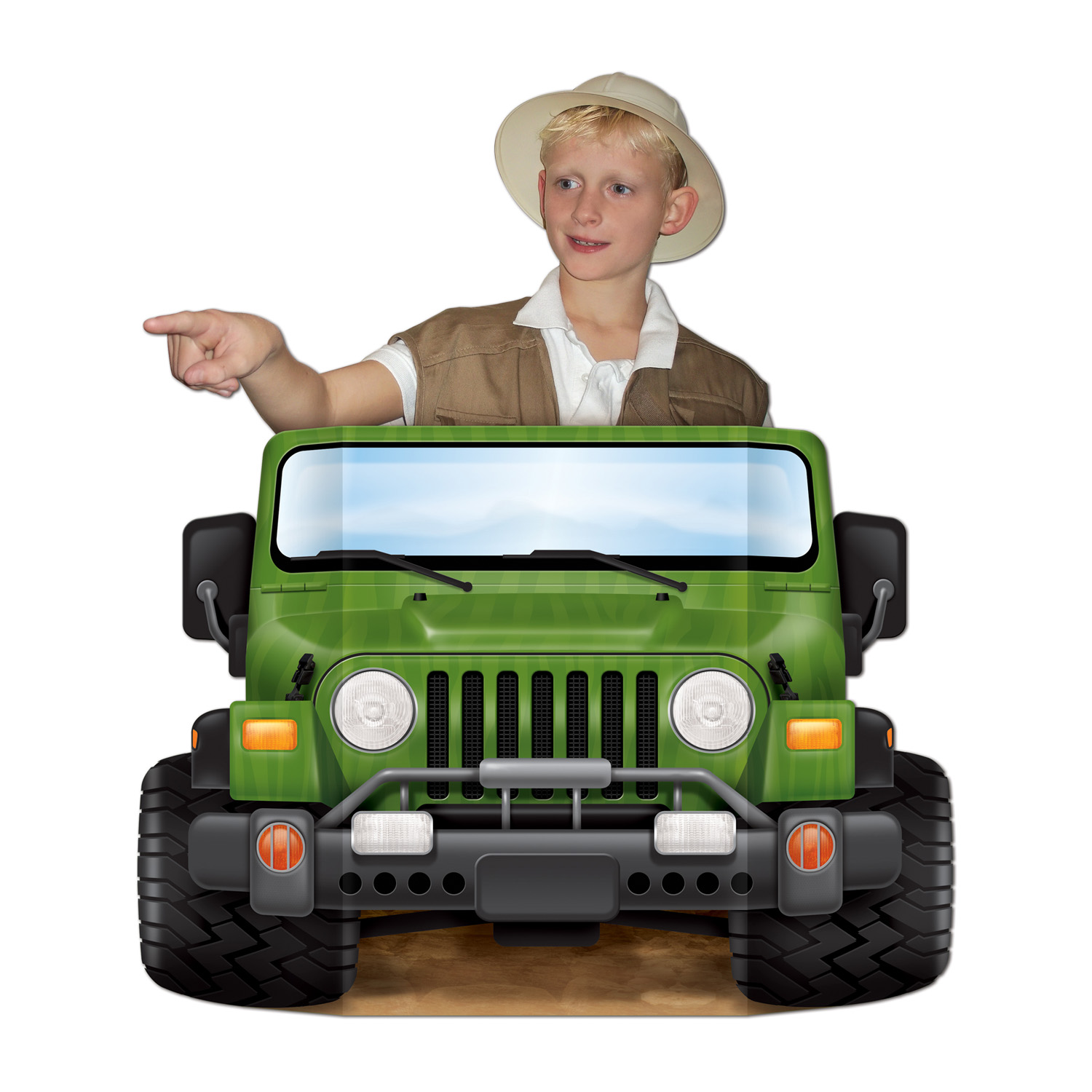Jungle Safari Jeep Photo Prop