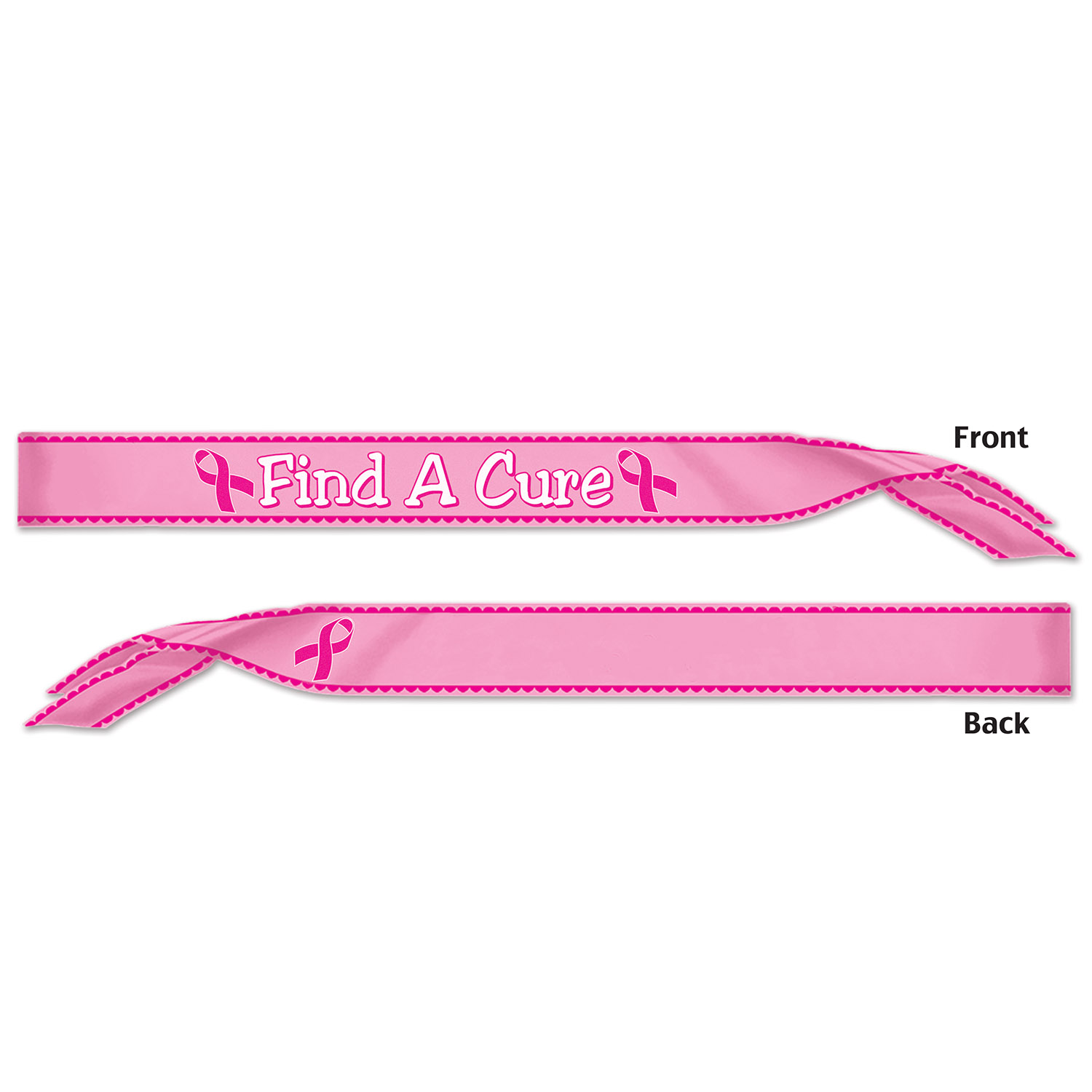 Pink Ribbon Find A Cure Satin Sash