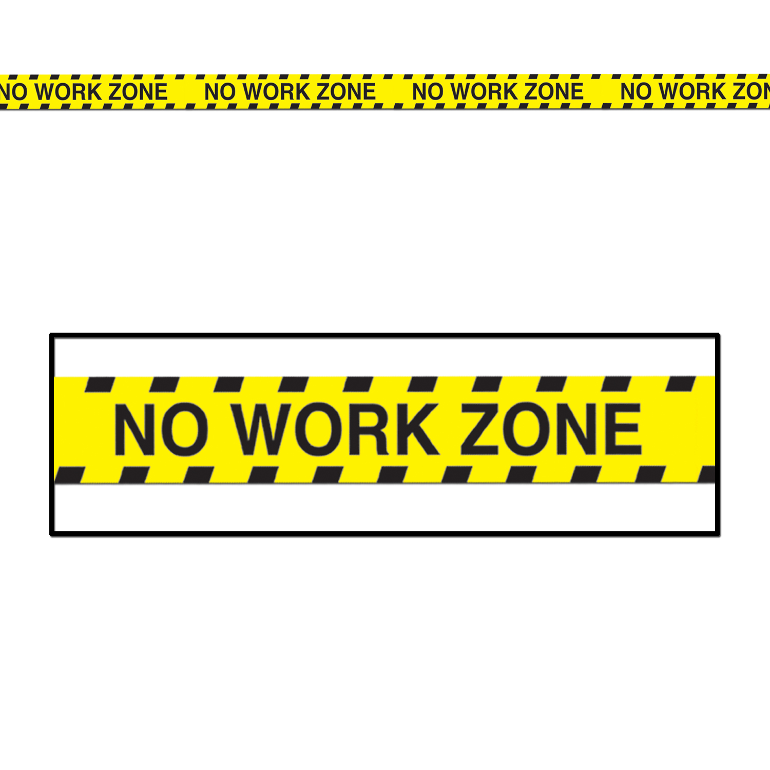 Retirement Party Supplies: No Work Zone Party Tape 30 Ft.