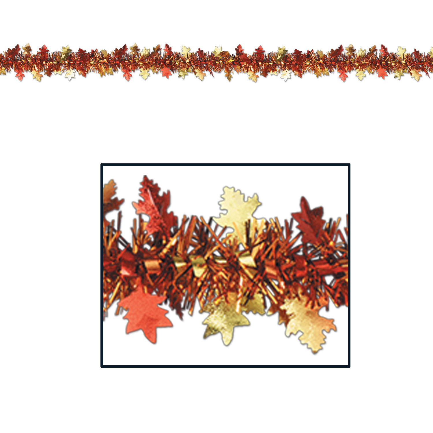 Autumn Leaves Garland 12ft.