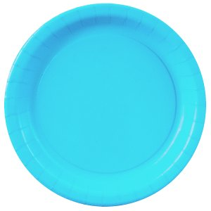 Bermuda Blue Dinner Plates - 24 Pk