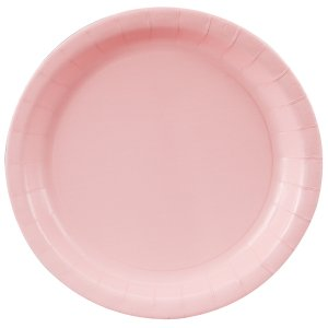Light Pink Round Dinner Plates Big 16 Pack