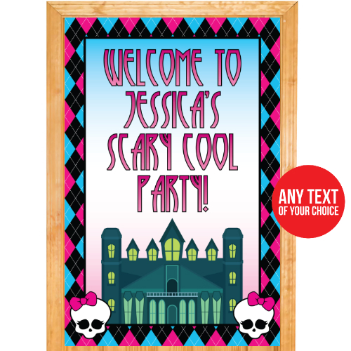 Monster High PERSONALIZED Giant Door Sign