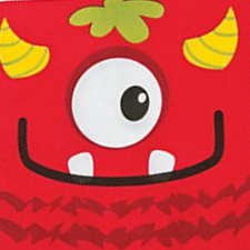 Mini Monster Lunch Napkins - 16 Pk