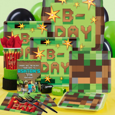 30 OFF Minecraft Party Pack For 16 W Personalized Invites