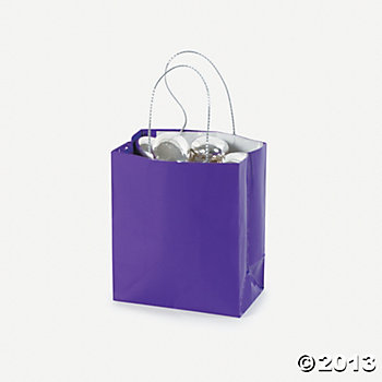Favour Bags: Mini Purple Gift Bags 24pk Party Supplies Canada - Open A ...