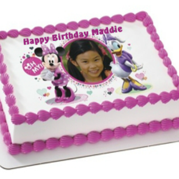 Minnie PERSONALIZED PHOTO Edible Icing