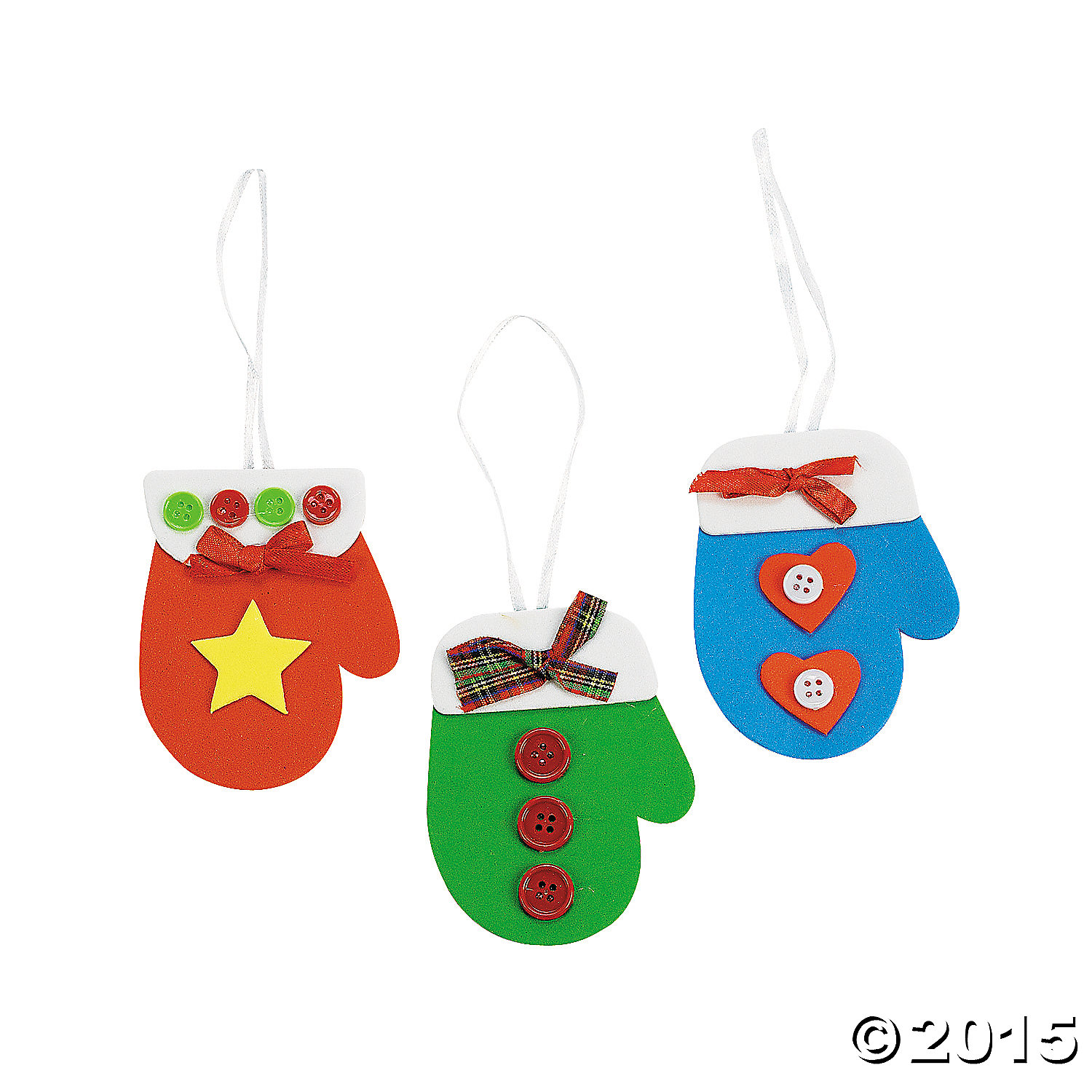Mitten Christmas Ornament Craft Kit - 48 Pk Party Supplies ...