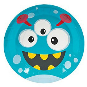 Mini Monster Dinner Plates - 8 Pk