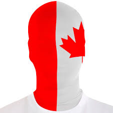 Canada Morph Suit Mask - One Size