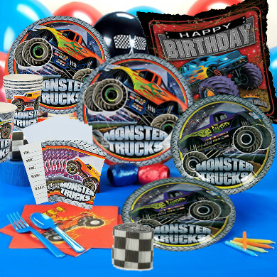 Monster Truck Deluxe Party Pack for 16