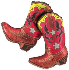 Cowboy Party Supplies: Jumbo 3 Ft. Boots Foil Balloon