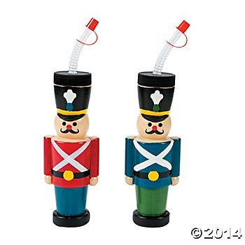 Nutcracker Molded Cups - 6 Pack