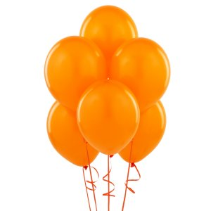 Orange Latex Balloons - 10 Pk