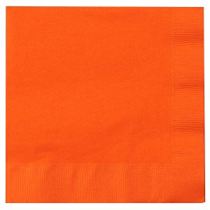 Orange Lunch Napkins Big 50 Pack