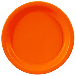 Orange Round Dinner Plates Big 16 Pack