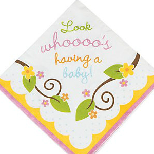 Owl Baby Shower Lunch Napkins - 16 Pk