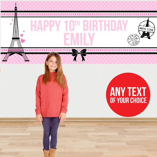 Paris Giant PERSONALIZED Banner